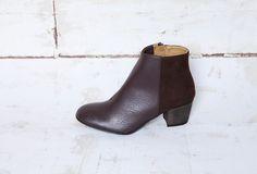 Good Guys Don't Wear Leather NINA BROWN veg.leather/veg.suede   vegan shoes   vegan boots