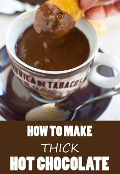 Italian hot chocolate How to make thick Italian hot chocolate! Just 5 minutes and 4 store cupboard ingredients.How to make thick Italian hot chocolate! Just 5 minutes and 4 store cupboard ingredients. Desserts For A Crowd, Best Dessert Recipes, Easy Desserts, Sweet Recipes, Delicious Desserts, Drink Recipes, Hot Chocolate Recipes, Vegetarian Chocolate, Chocolate Ganache Cake