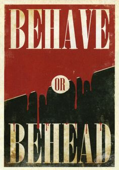 "Fable 3 ""Behave OR Behead"" poster Video Game Art, Video Games, Fable 2, We Happy Few, Medieval Fantasy, Dragon Age, Illustrations Posters, Nerdy, My Love"