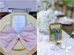 Pink bow tie napkins, adorable! naples wedding | set free photography | hyatt regency coconut point | wedding coordination Along Came Stephanie | florida