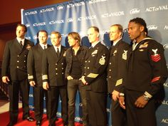 Behind the scenes pic of Keith with some of the stars of 'Act of Valor' at last night's premiere!