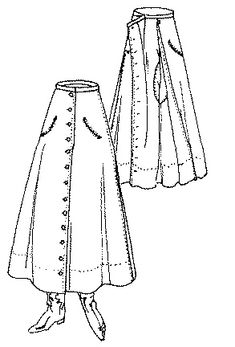 Past Patterns: #6306: Ladies' Divided Skirt: Circa 1922