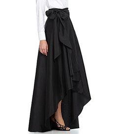 Adrianna Papell HiLow Taffeta Skirt #Dillards