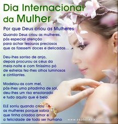 poema dia internacional da mulher Nail Salon Design, Ladies Day, Girl Power, Album, Life, Cat, Disney, Daughter Birthday Message, Wicked