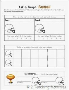 Ask & Graph: Football - Graphing Through the #SuperBowl or any football game for that matter, what boy wouldn't want to do this activity!