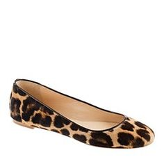 J.Crew everything in leopard hair calf.
