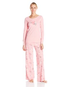 faff295756 Hue Sleepwear Women s Classy Scotty Thermal Pajama Set