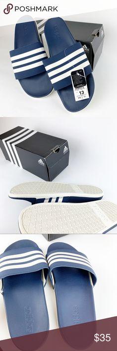 6762b607e NWT Men Adidas Sandals Adidas Mens Size 13 Navy Blue Adilette Comfort  Sliders Slide Sandals New