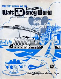 1971 Disney World advertisement..I was there...anyone remember the E ticket rides?