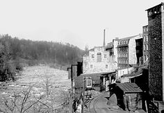 patapsco river flood | : The Oella Woolen Factory on the bank of the Patapsco River ...