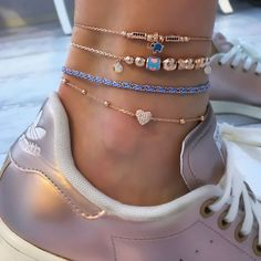 set Looking for some unique splendid anklet, well no worries, we have huge collection of exquisite anklets fashion accessories for every occasion Ankle Jewelry, Ankle Bracelets, Cute Jewelry, Jewelry Necklaces, Jewellery, Jewelry Shop, Diy Jewelry, Gold Jewelry, Sterling Silver Anklet
