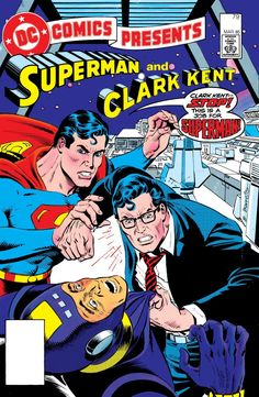 After a battle with the Erg-Master, Superman and Clark Kent become separate individuals. One is Superman, the other has a compulsion to be Clark Kent in Superman--Meet Clark Kent. Action Comics 1, War Comics, Marvel Comics, Funny Comics, Comic Book Artists, Comic Artist, Comic Books Art, Comic Book Plus, Comic Book Covers