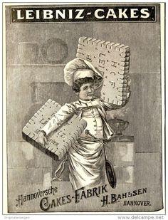 Original-Werbung/ Anzeige 1897 - LEIBNIZ CAKES / BAHLSEN - HANNOVER - ca. 90 x 120 mm