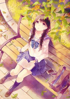 Shared by 鹿取. Find images and videos about girl, anime and kawaii on We Heart It - the app to get lost in what you love. Anime School Girl, Anime Girls, Kawaii Anime Girl, Manga Girl, Anime Art Girl, Beautiful Anime Girl, I Love Anime, Awesome Anime, Anime Chibi