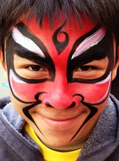 31 Chinese New Year Face Paint Ideas Chinese New Year Face Face Painting