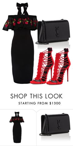 """""""Untitled #338"""" by samstyles001 on Polyvore featuring Temperley London, Yves Saint Laurent and Giuseppe Zanotti"""