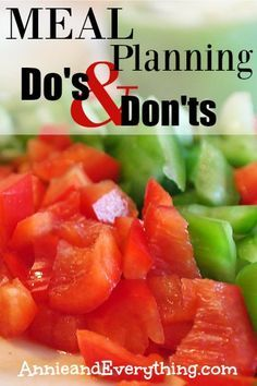 Meal planning is definitely a GREAT way to manage expenses, but it doesn't work if you don't do it right! Here are some do's and don'ts for making meal planning effective. Make sure you're not missing anything!