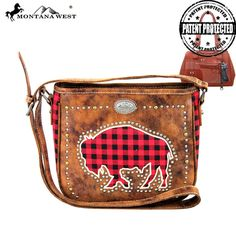 Montana West MW256G-8287 Concealed Carry Crossbody Bag