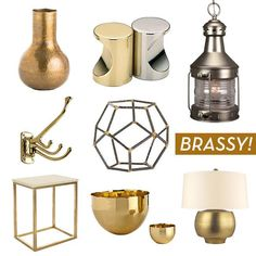 brass decor finds