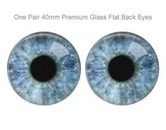 Sculptures Extra Large 40mm Pair of Shark Glass Eyes for Jewelry Making Dolls More