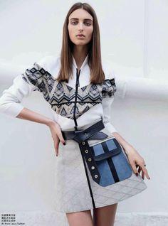 Georgina Stojiljkovic in Louis Vuitton Fall 2014 for Marie Claire Hong Kong August 2014