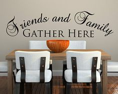 Family Wall Decals. Friends and Family Gather by WeAreVinylDesigns