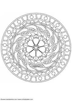 Kleurplaat mandala-1602d