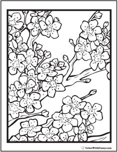 free printable blossom branch template | kids activities ... - Cherry Blossom Tree Coloring Pages