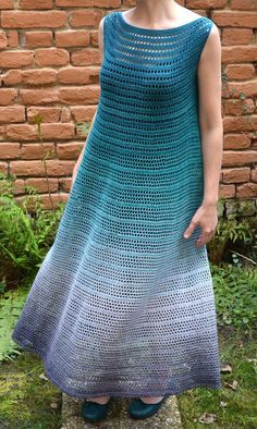 """Nori Dress is actually my first ever crocheted dress. Made and also designed. I had a lovely time making it and was enjoying Whirl yarn by Scheepjes. It was nice to """"run"""" from one colo..."""