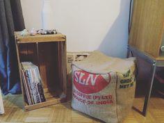 xl sitzsack kaffeesack von donnalupinas textilwerkstatt auf coffee addicted. Black Bedroom Furniture Sets. Home Design Ideas