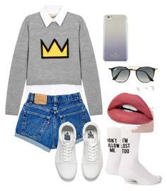 """Day out"" by eriarai on Polyvore featuring Alice + Olivia, Vans, Kate Spade, Ray-Ban and Yeah Bunny"