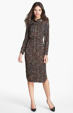Ted Baker London Belted Print Shirtdress available at #Nordstrom  - elegant modest dress