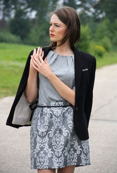 Silver Gray Brocade Handmade Mini Skirt / La Mini Jupe by BlumArt, $64.99