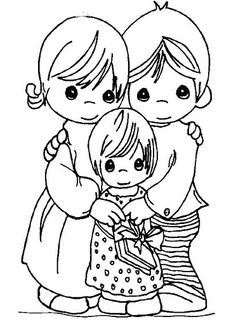 Easy Printable Precious Moments Coloring Pages Coloring Book Pages, Coloring Pages For Kids, Adult Coloring, Digital Stamps Free, Precious Moments Coloring Pages, Free Online Coloring, Disney Colors, To Color, Cartoon Pics
