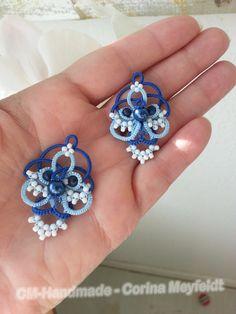 Tatted earrings for Miranda by CorinaMeyfeldt on Etsy