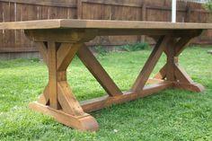 X Base Farmhouse Table