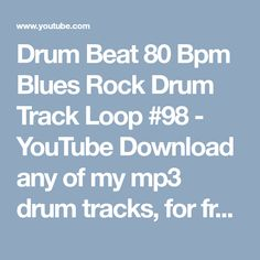 Drum backing track blues beat 70 bpm bass guitar backing track.