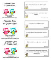 """Kid friendly common core """"I Can"""" posters for 3rd, 4th, and 5th grade students. Fee."""