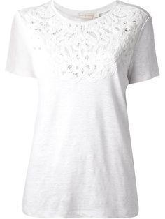 Tory Burch Camiseta Branca Com Renda - Une Femme À Suivre - Farfetch.com
