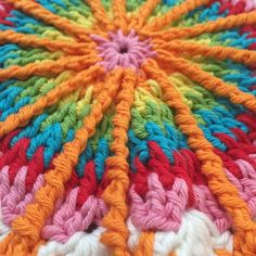 This #crochet mandala by kym is on the #crochetconcupiscence blog today for the #mandalasformarinke project by kvercillo