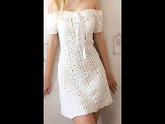 YouTube Crochet Woman, Love Crochet, Crochet Baby, Knit Crochet, Crochet Blouse, Crochet Bikini, Crochet Designs, Crochet Patterns, Summer Patterns