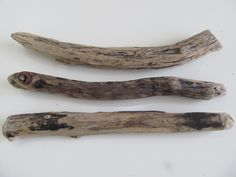 Driftwood Supplies - Three Dark Driftwood Pieces - Thick Drift Wood Sticks For Driftwood Wall Art & Crafting by LonelyBeach on Etsy