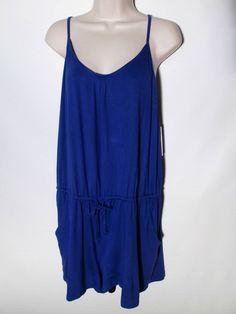 Alfani New Romper Blue Lapis Extra Large Modal #Alfani #Romper