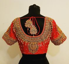 40 Latest Maggam Work Blouse Designs for : Images & Catalogue - - Wedding Saree Blouse Designs, Pattu Saree Blouse Designs, Blouse Designs Silk, Blouse Patterns, Magam Work Blouses, Latest Maggam Work Blouses, South Indian Blouse Designs, Maggam Work Designs, Blouse Models