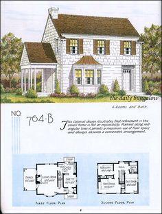Sims 4 House Plans, Sims House, House Floor Plans, Tiny Houses Plans With Loft, Small House Plans, Sims Building, Building A House, Decks, Vintage House Plans
