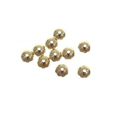 Gold Plated 6mm Bead Caps With Scallops, Bag Of 10