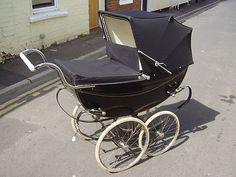 1954 the formal baby strooler Vintage Pram, Vintage Love, Pram Stroller, Baby Strollers, Prams And Pushchairs, Surprise Baby, Baby Buggy, Dolls Prams, Baby Prams