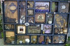Love this altered printer's tray!