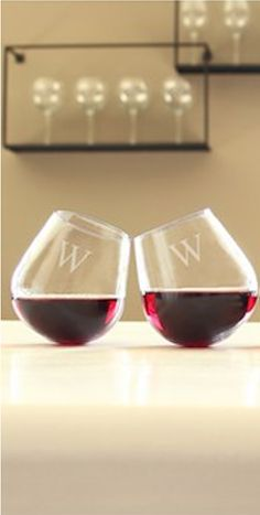 Personalized tipsy wine glasses http://rstyle.me/n/fpy9bnyg6