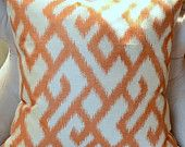 Orange ikat